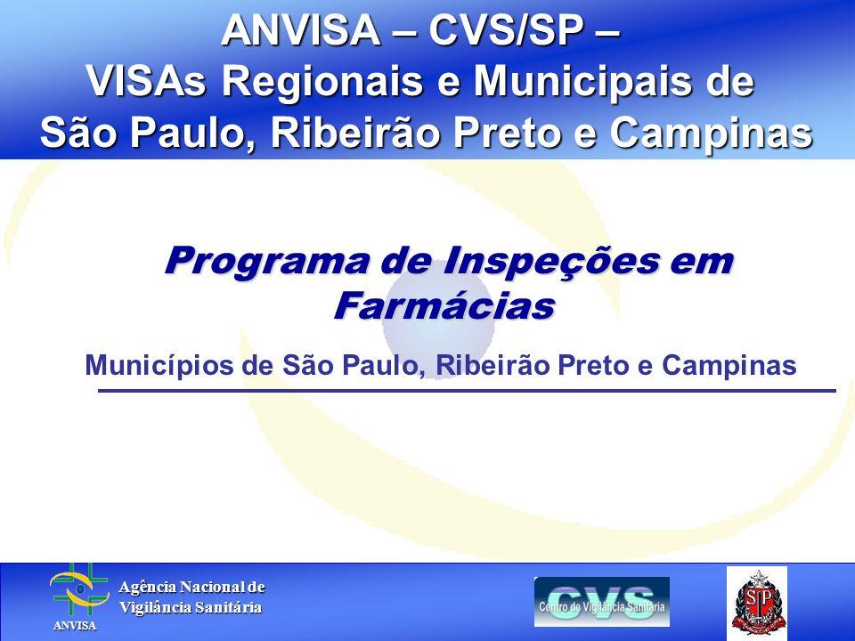 VISAs Regionais e Municipais de São Paulo, Ribeirão Preto e Campinas