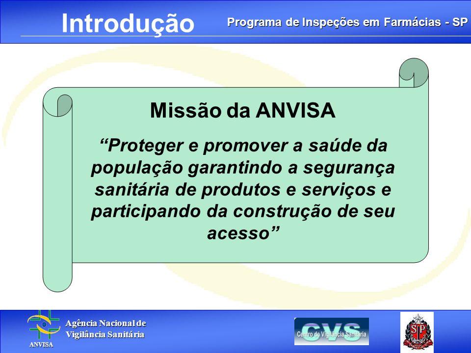 Introdução Missão da ANVISA