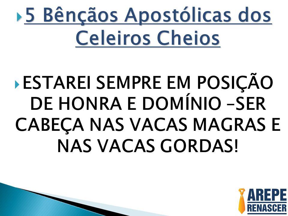 5 Bênçãos Apostólicas dos Celeiros Cheios