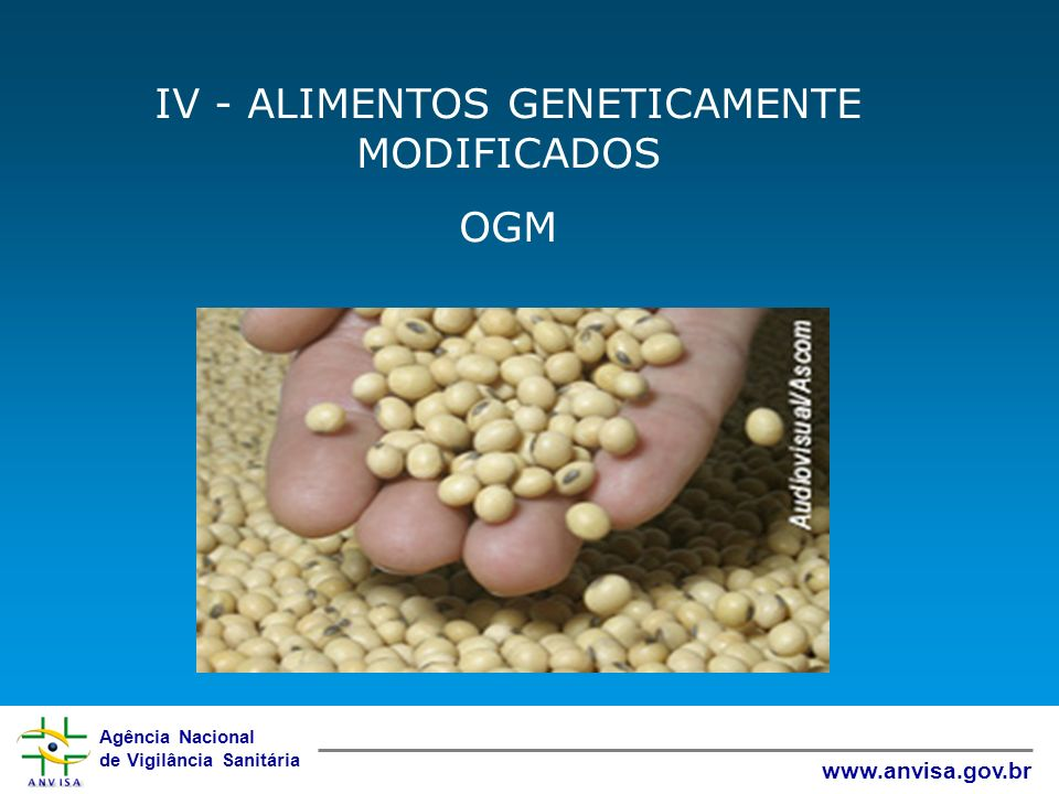 IV - ALIMENTOS GENETICAMENTE MODIFICADOS