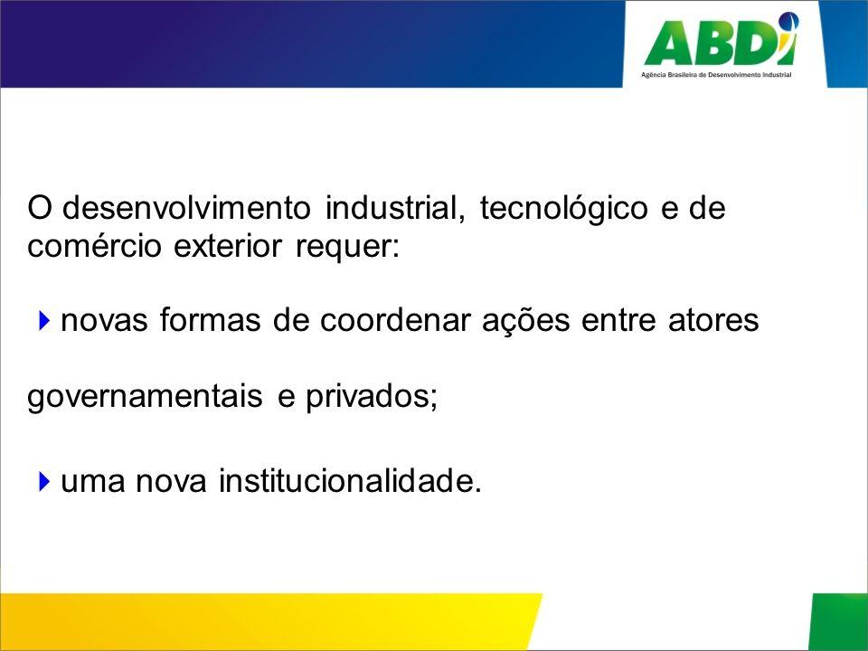 O desenvolvimento industrial, tecnológico e de comércio exterior requer: