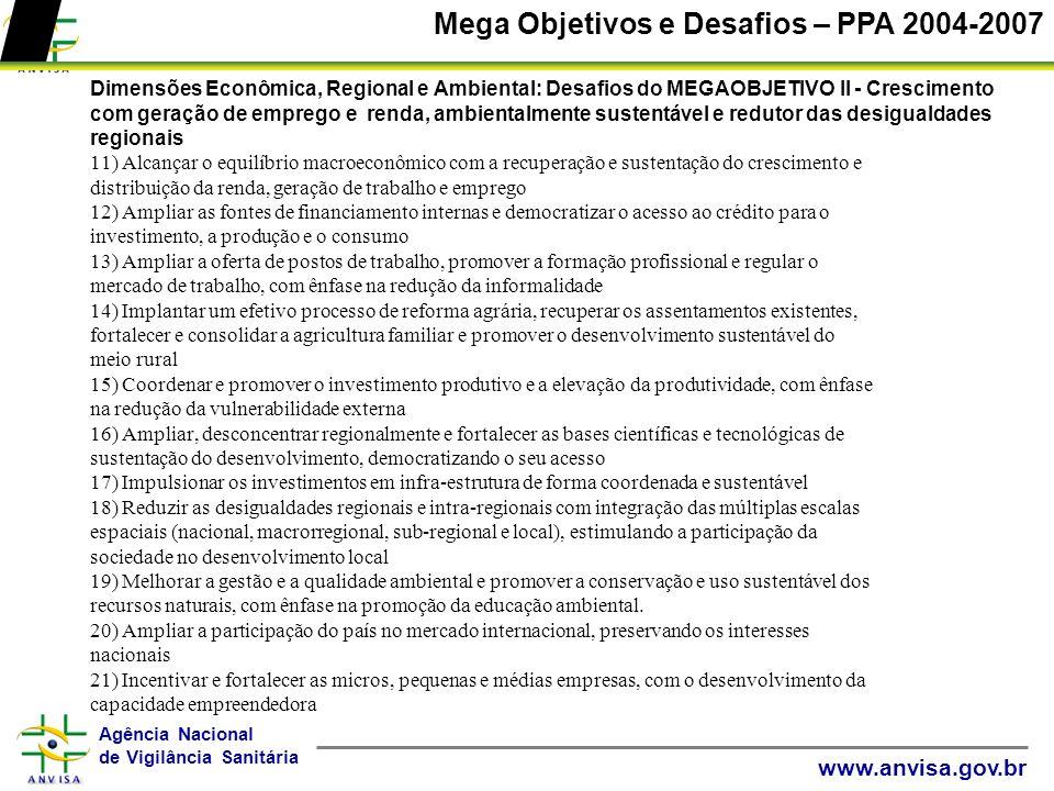 Mega Objetivos e Desafios – PPA 2004-2007