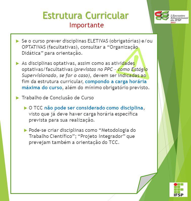 Estrutura Curricular Importante