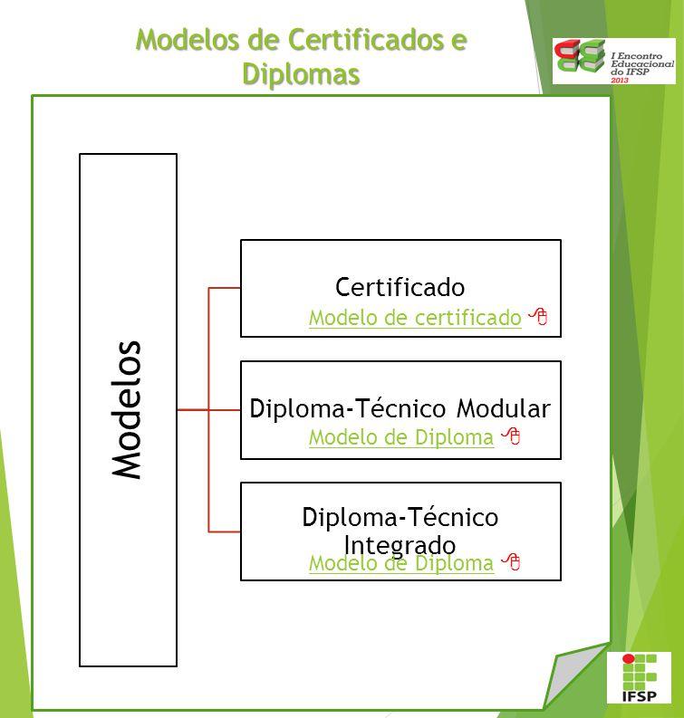 Modelos de Certificados e Diplomas