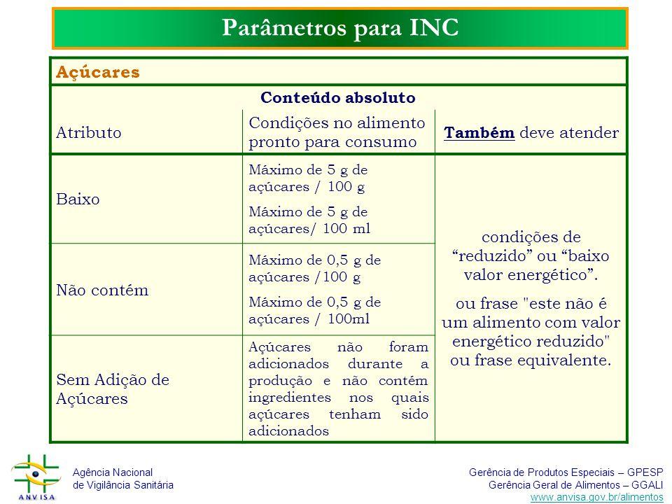 condições de reduzido ou baixo valor energético .