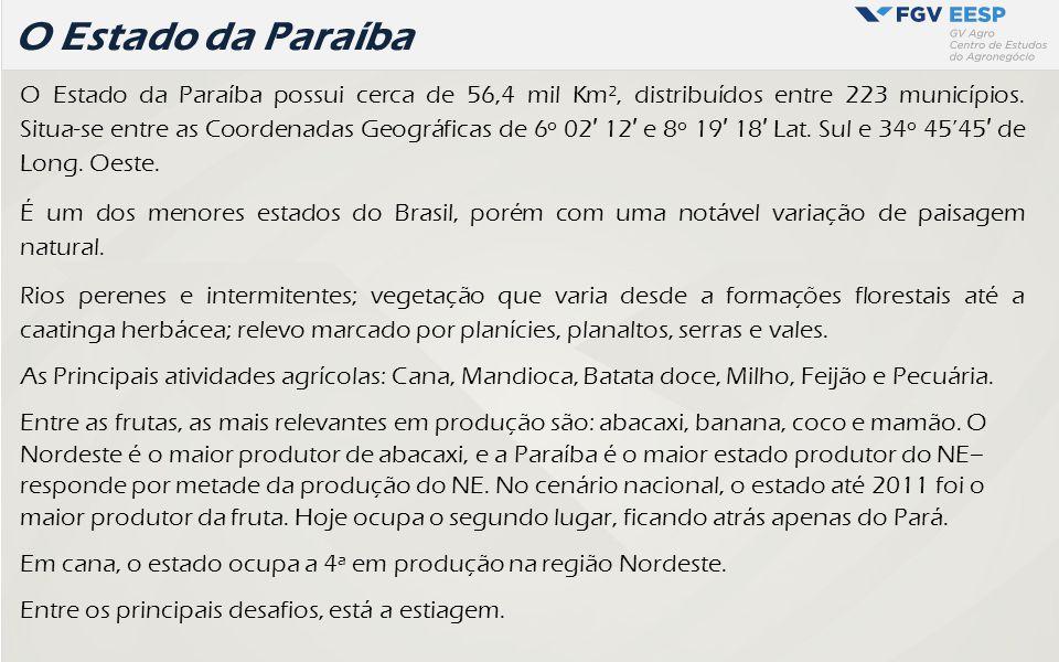 Paraíba - solos De forma geral, os solos mais propícios a atividade agrícola são os latossolos, podzolicos, terra roxa.