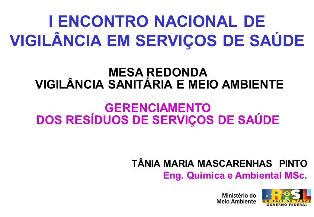 I ENCONTRO NACIONAL DE VIGILÂNCIA EM SERVIÇOS DE SAÚDE