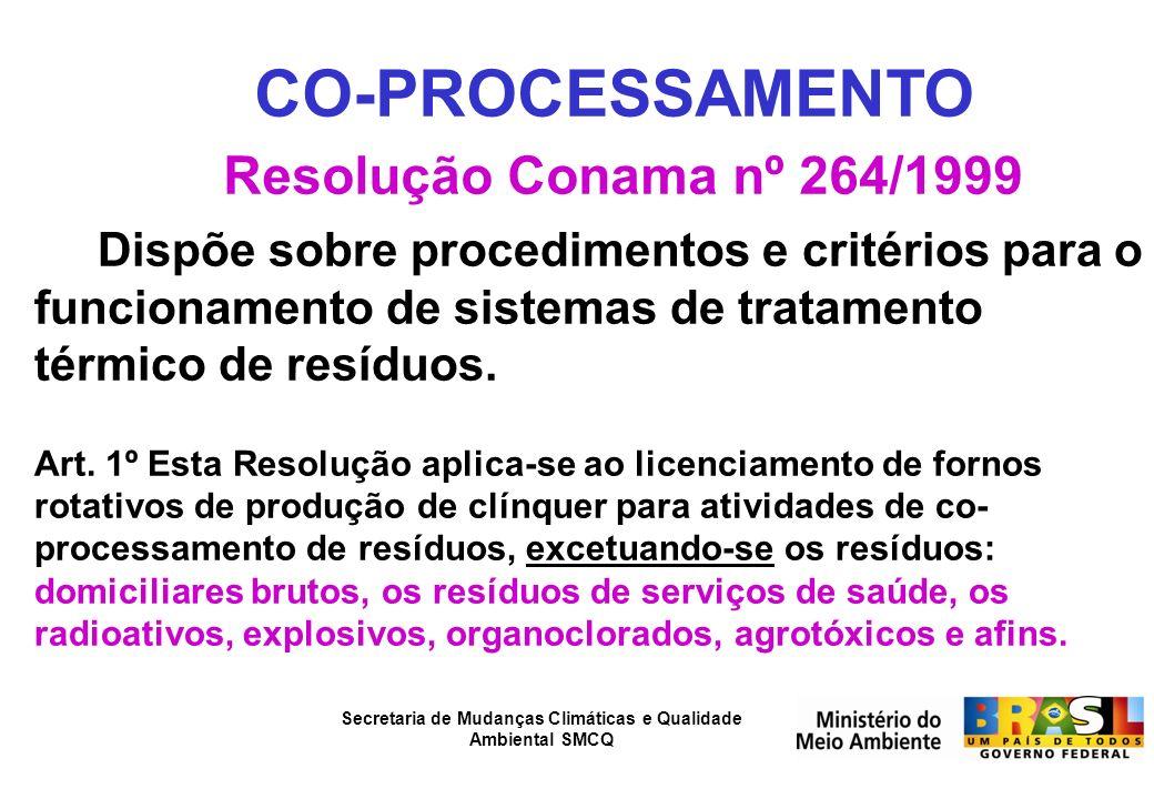 CO-PROCESSAMENTO Resolução Conama nº 264/1999