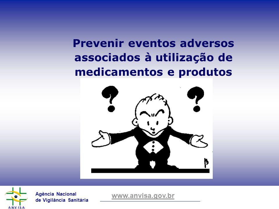 Prevenir eventos adversos associados à utilização de medicamentos e produtos