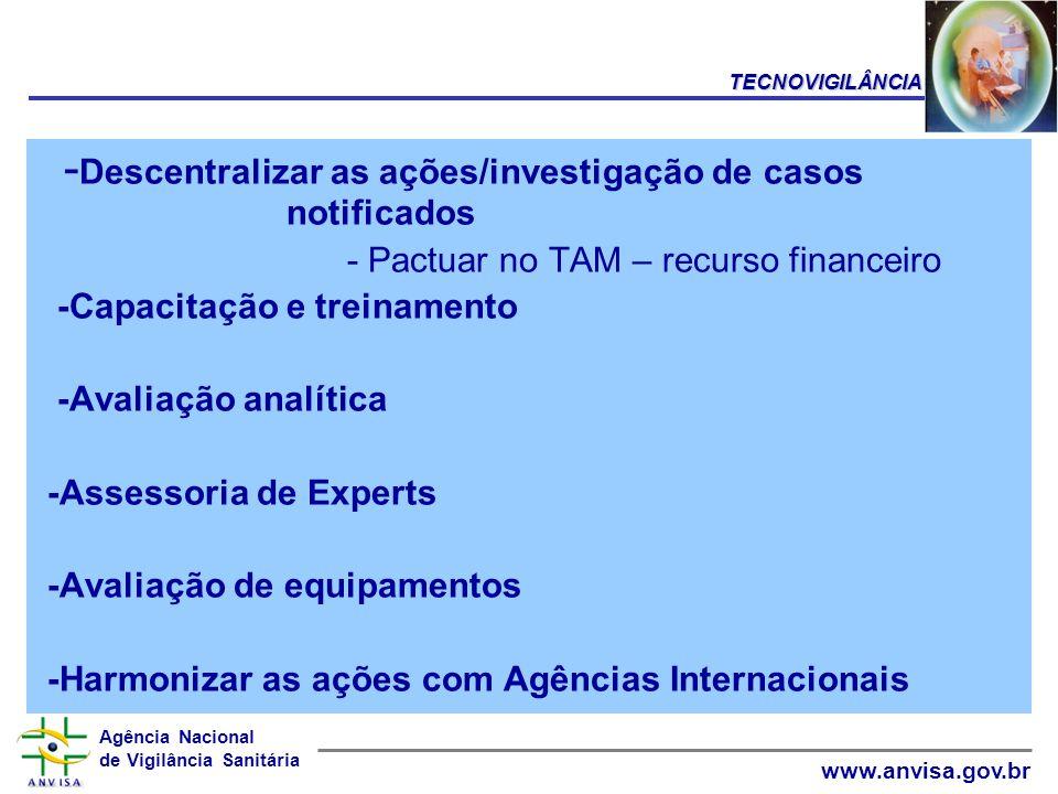 -Descentralizar as ações/investigação de casos notificados
