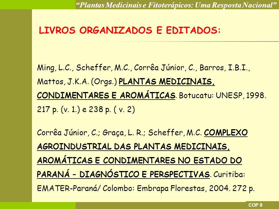 LIVROS ORGANIZADOS E EDITADOS: