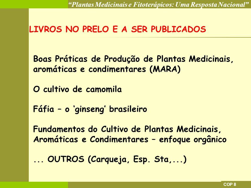 LIVROS NO PRELO E A SER PUBLICADOS