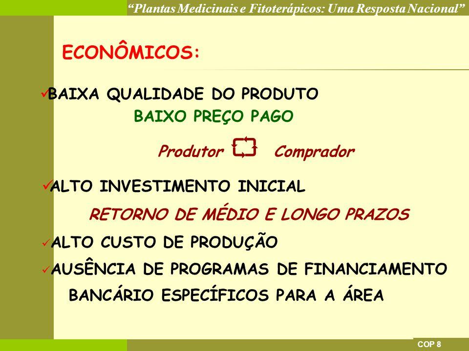 ECONÔMICOS: BAIXA QUALIDADE DO PRODUTO BAIXO PREÇO PAGO