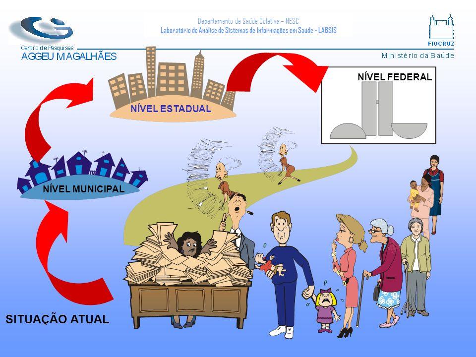 NÍVEL ESTADUAL NÍVEL FEDERAL NÍVEL MUNICIPAL SITUAÇÃO ATUAL