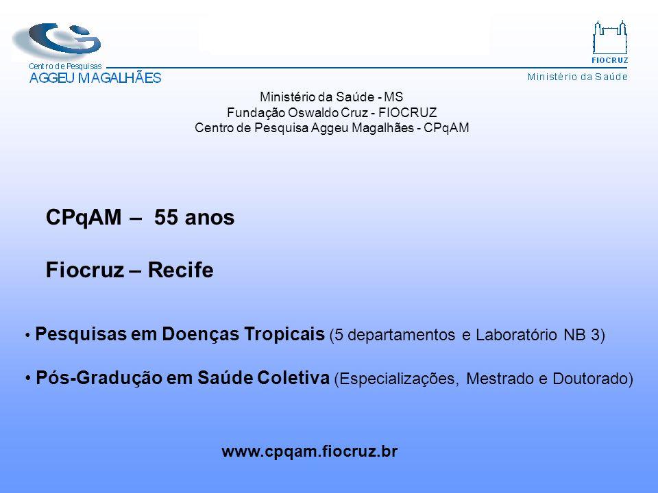 CPqAM – 55 anos Fiocruz – Recife