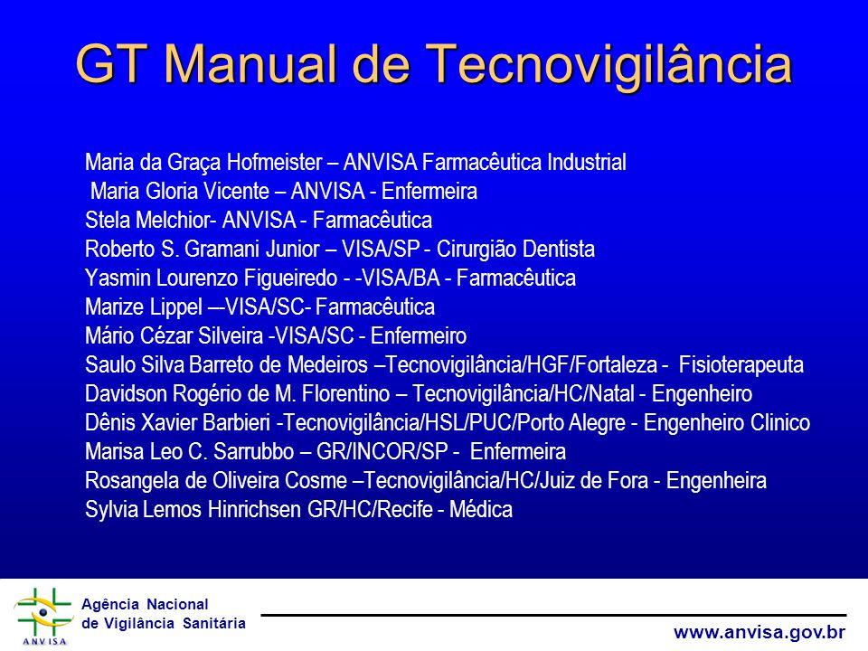 GT Manual de Tecnovigilância