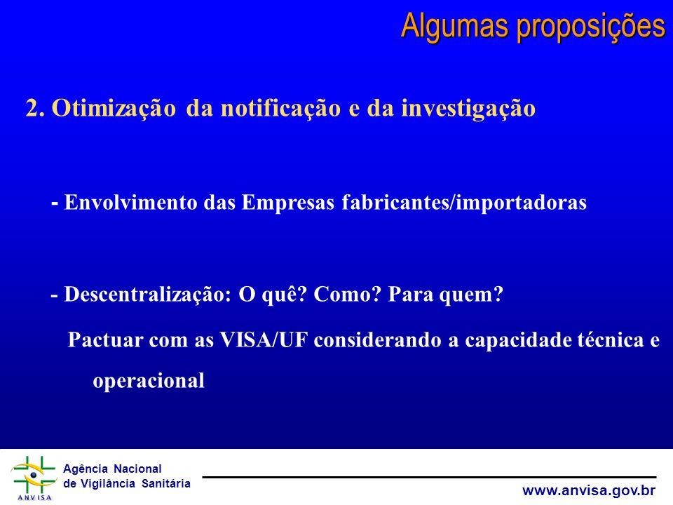 Algumas proposições 2. Otimização da notificação e da investigação