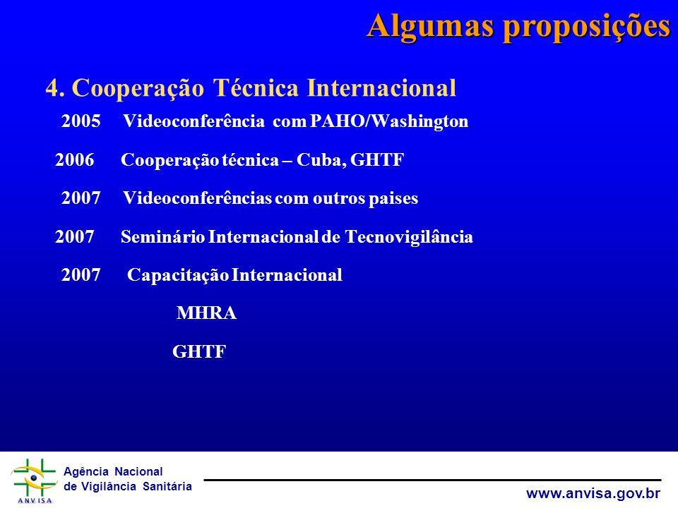 Algumas proposições 4. Cooperação Técnica Internacional
