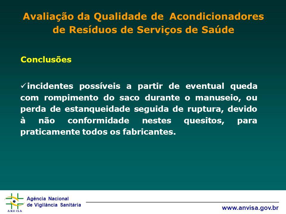 Avaliação da Qualidade de Acondicionadores de Resíduos de Serviços de Saúde