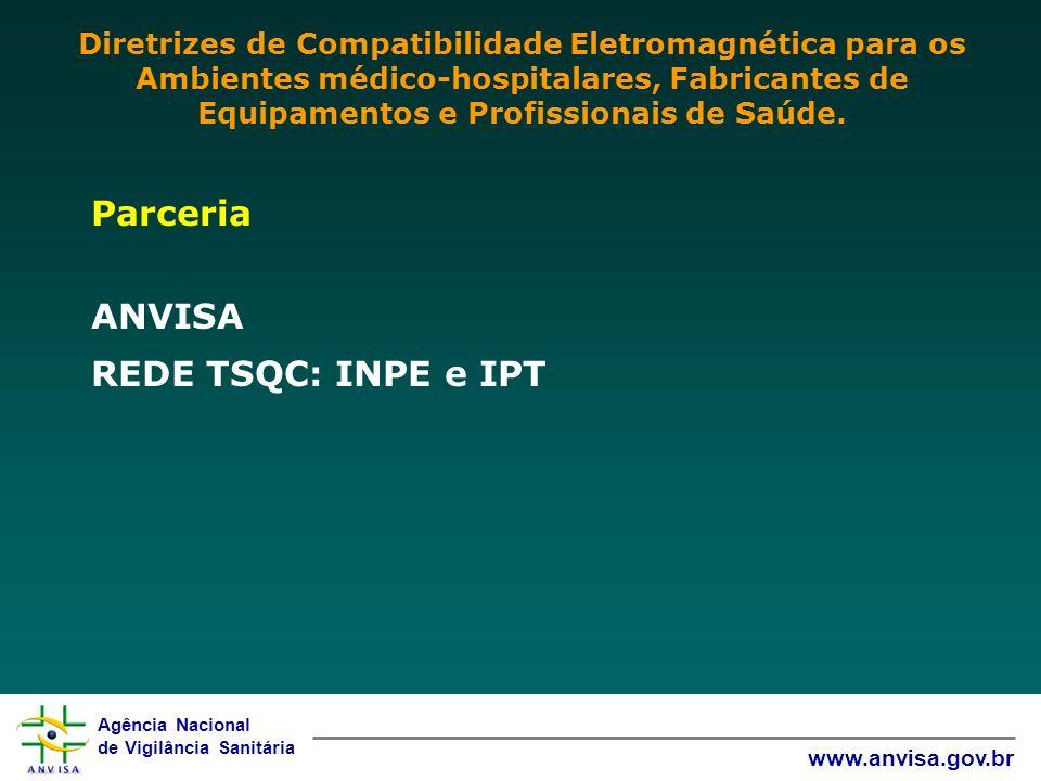 Parceria ANVISA REDE TSQC: INPE e IPT
