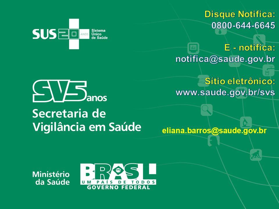 Disque Notifica: 0800-644-6645 E - notifica: notifica@saude.gov.br