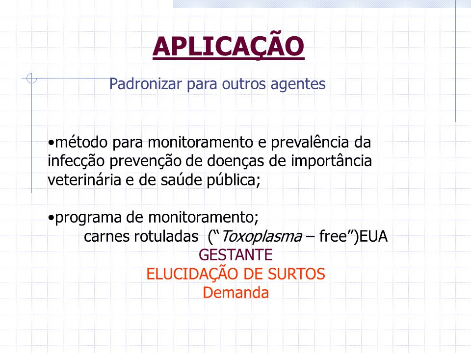 carnes rotuladas ( Toxoplasma – free )EUA GESTANTE