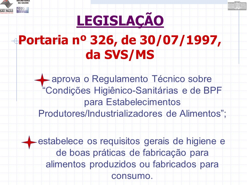 Portaria nº 326, de 30/07/1997, da SVS/MS
