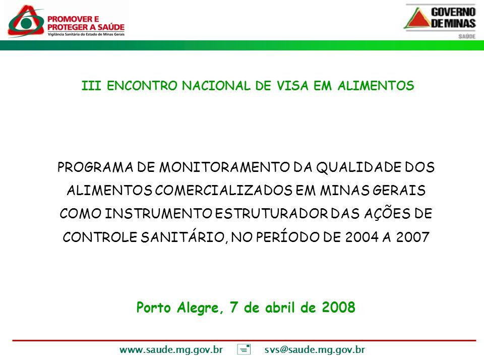 III ENCONTRO NACIONAL DE VISA EM ALIMENTOS
