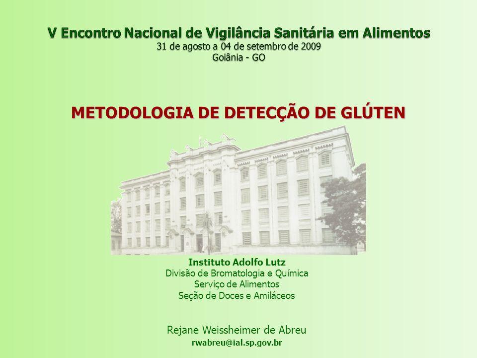 METODOLOGIA DE DETECÇÃO DE GLÚTEN