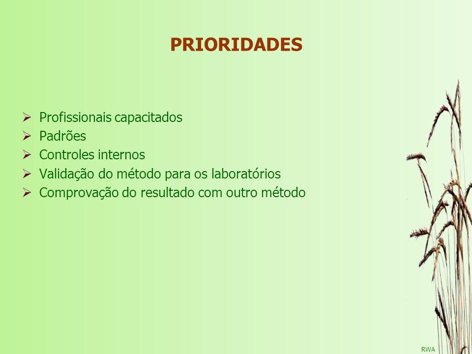 PRIORIDADES Profissionais capacitados Padrões Controles internos