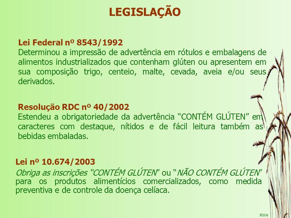 LEGISLAÇÃO Lei Federal nº 8543/1992