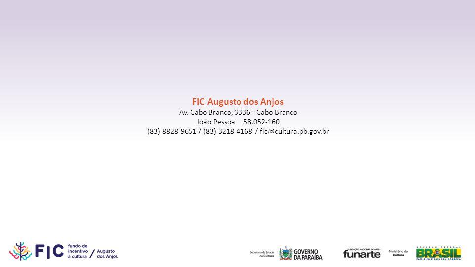 FIC Augusto dos Anjos Av. Cabo Branco, 3336 - Cabo Branco