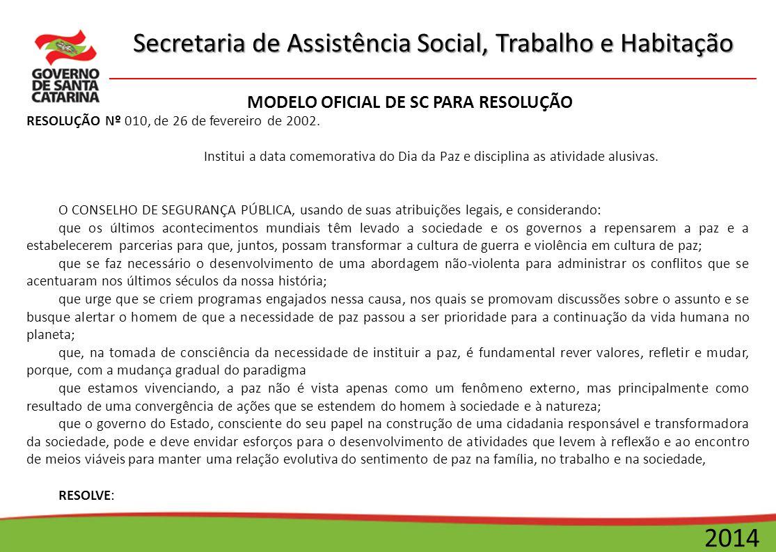 MODELO OFICIAL DE SC PARA RESOLUÇÃO