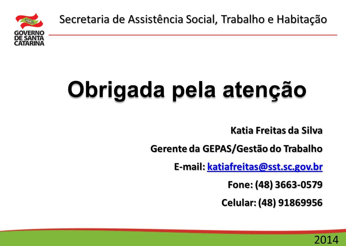 Obrigada pela atenção Katia Freitas da Silva