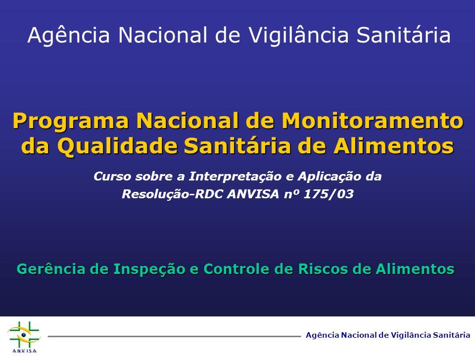 Programa Nacional de Monitoramento da Qualidade Sanitária de Alimentos