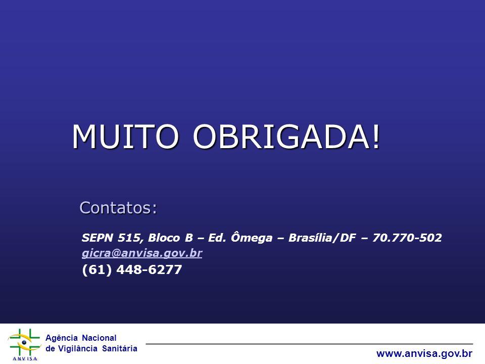 MUITO OBRIGADA! Contatos: (61) 448-6277