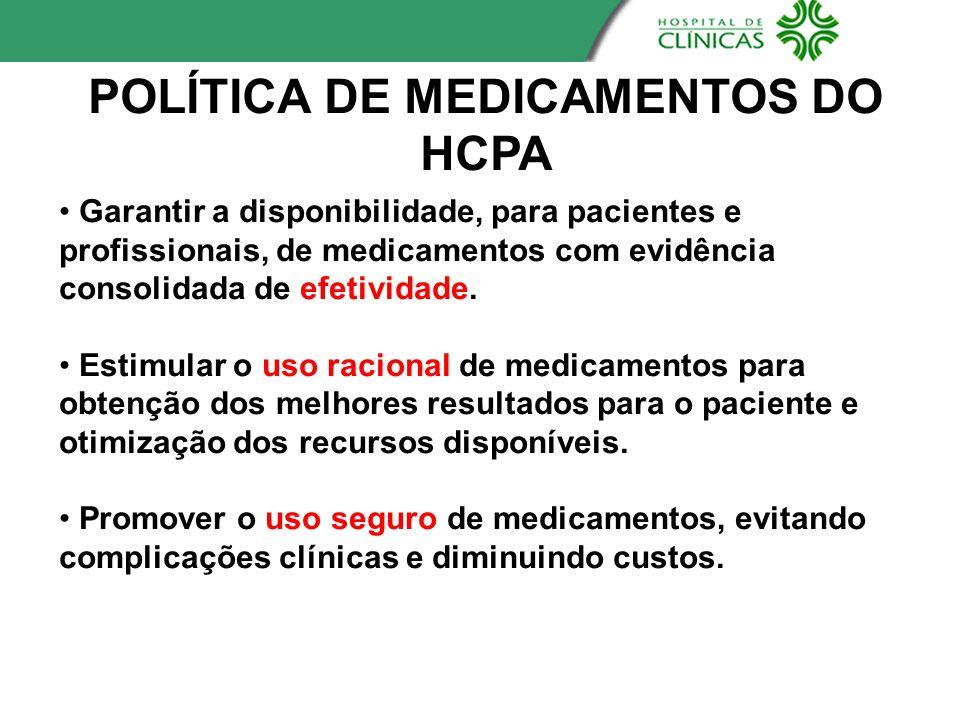 POLÍTICA DE MEDICAMENTOS DO HCPA