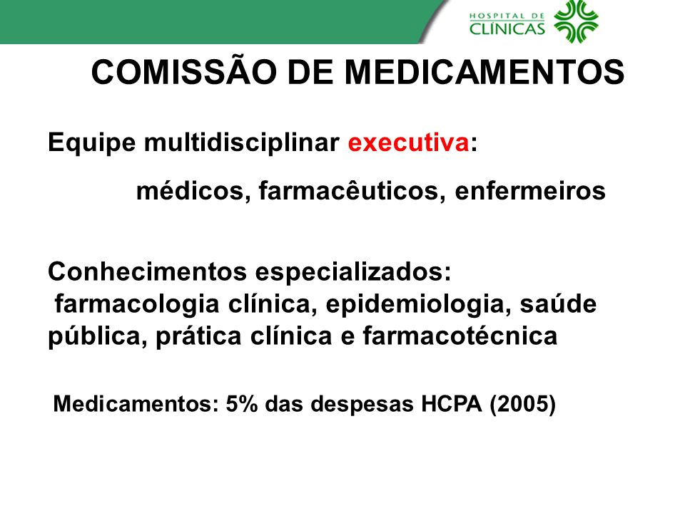 COMISSÃO DE MEDICAMENTOS
