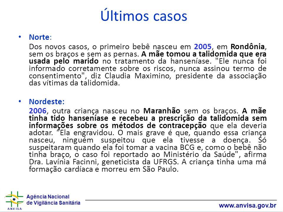 Últimos casosNorte:
