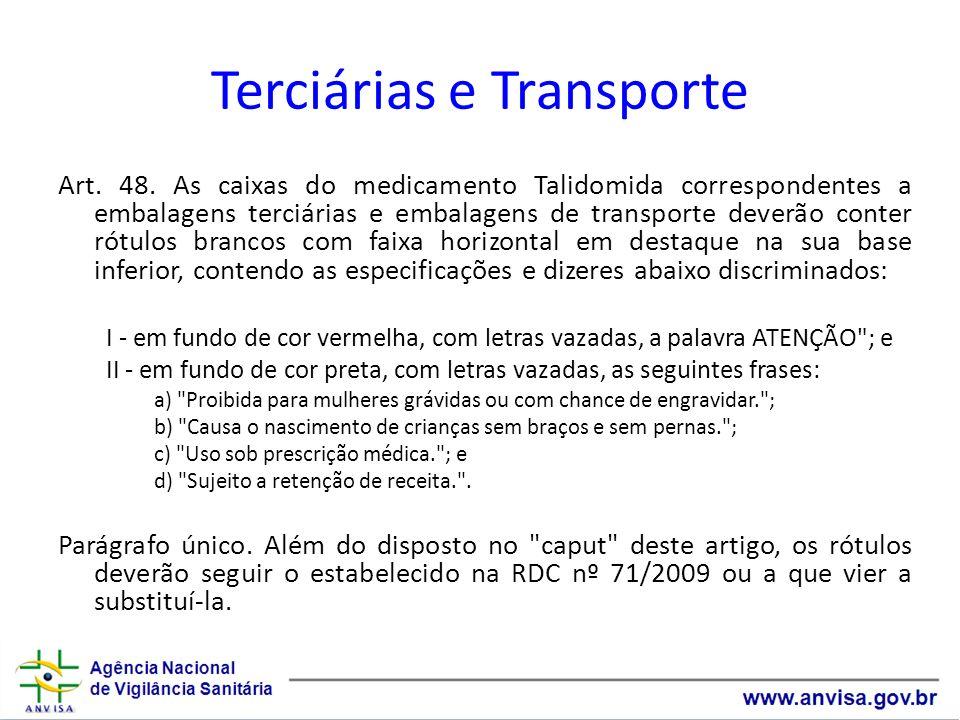 Terciárias e Transporte