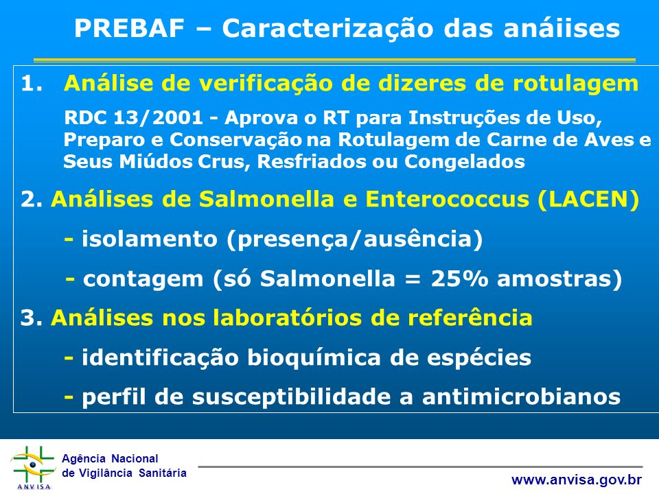 PREBAF – Caracterização das anáiises