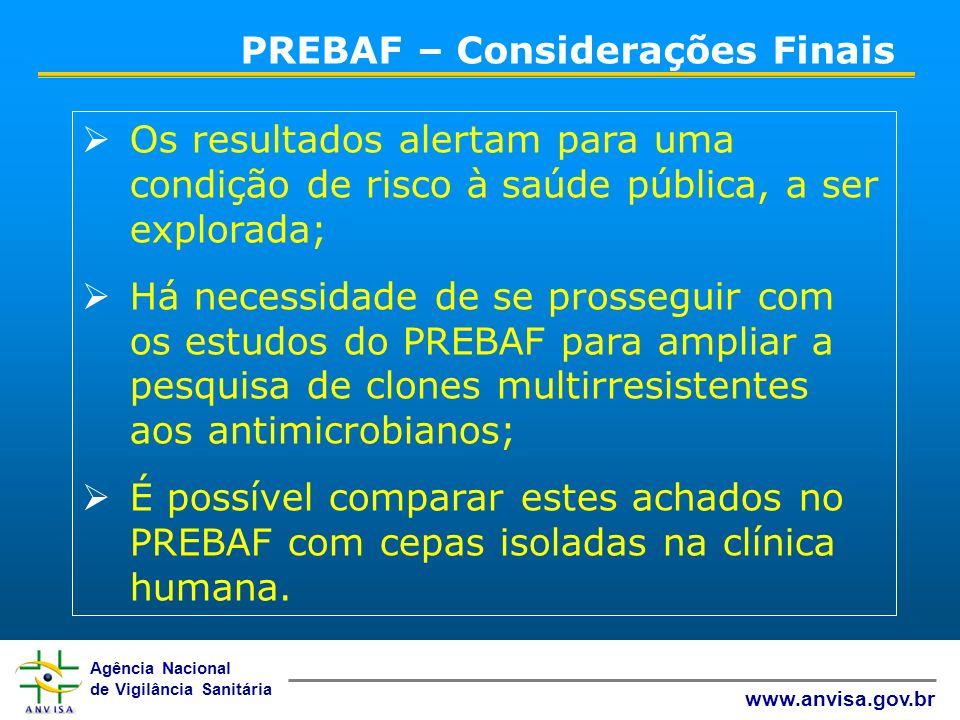 PREBAF – Considerações Finais