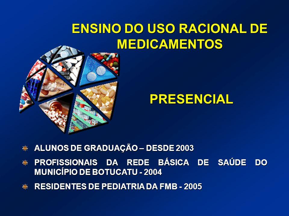 ENSINO DO USO RACIONAL DE MEDICAMENTOS