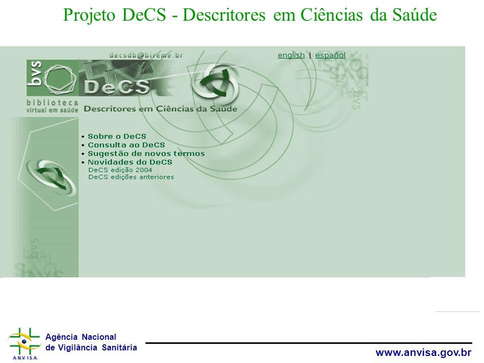 Projeto DeCS - Descritores em Ciências da Saúde