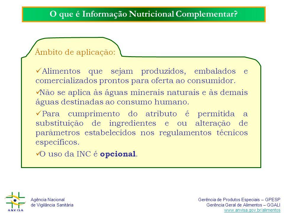 O que é Informação Nutricional Complementar