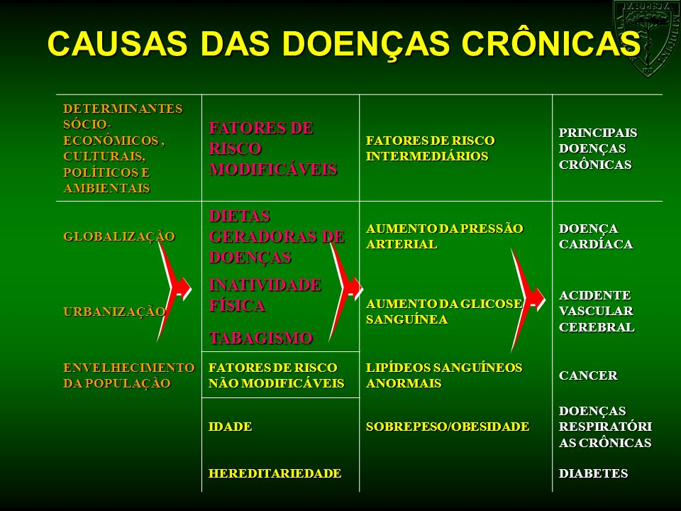 CAUSAS DAS DOENÇAS CRÔNICAS