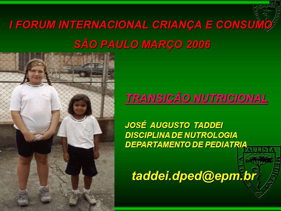 I FORUM INTERNACIONAL CRIANÇA E CONSUMO SÃO PAULO MARÇO 2006