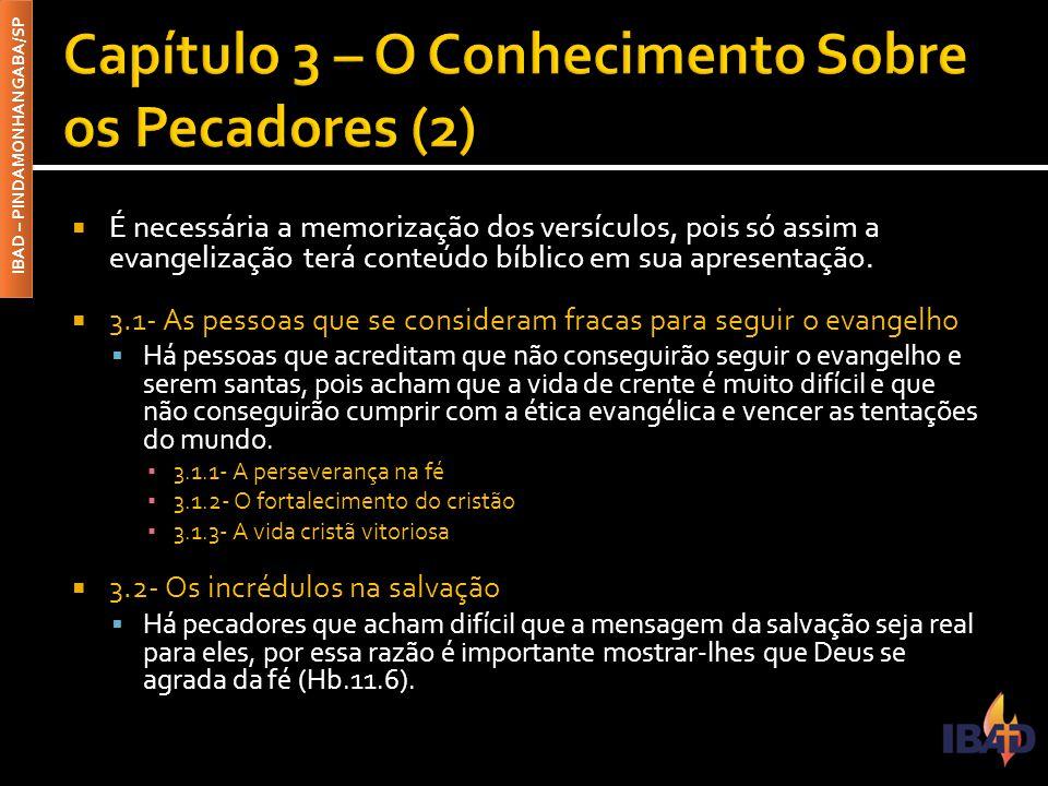 Capítulo 3 – O Conhecimento Sobre os Pecadores (2)