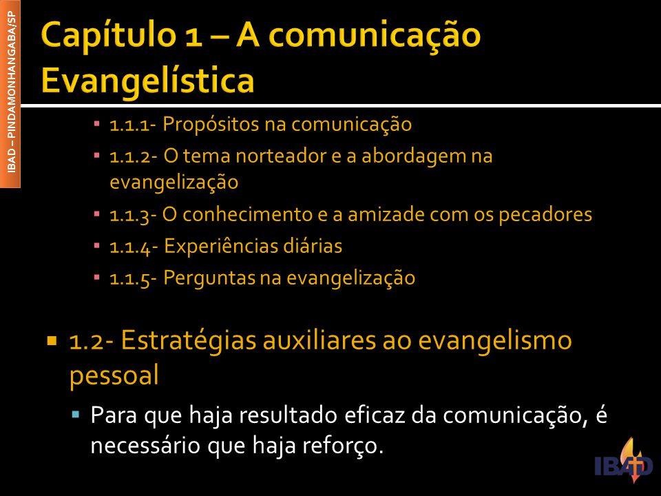 Capítulo 1 – A comunicação Evangelística