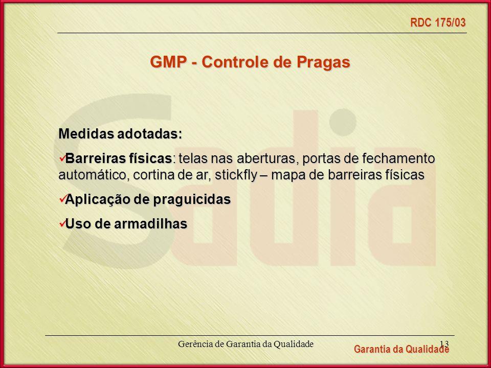 GMP - Controle de Pragas